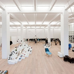 Murkudis's minimalist but expansive new concept store on Berlin's Potsdammer Strasse.