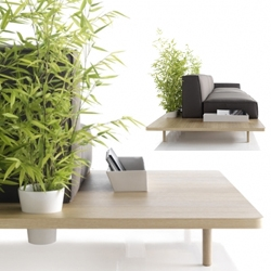 'MUS' sofas by Francesc Rife for KOO International integrate accessories such as pots to grow your plants / create unique screens.