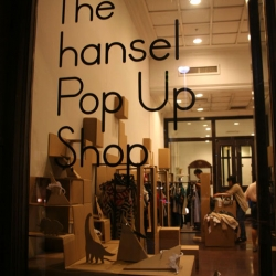 A Popup Store by Musement for Hansel - A store built entirely out of cardboard.