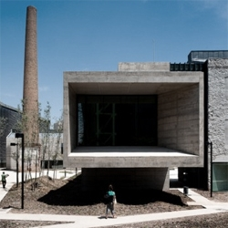 Spanish architect Jordi Badia converted an old wool factory into a beautiful art museum. I really like how the old walls were treated, and blend with the new concrete structure.