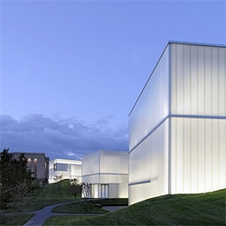 The Nelson Atkins Museum in Kansas City. These light boxes were designed by Steven Holl.