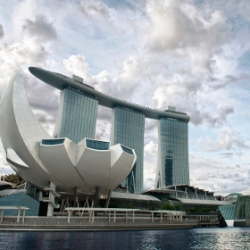 World's first Art Science museum, designed by architect Moshe Safdie, will be unveiled on 17 February 2011 at Marina Bay Sands in Singapore, featuring a form reminiscent of a lotus flower.