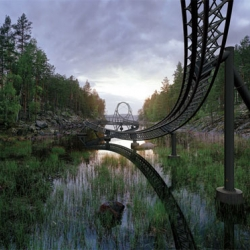Finnish artist Ilkka Halso depicts a future where nature becomes an attraction due to its rarity.