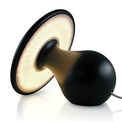 Simon Duff's playful 'Mushroom' LED lamp. Completely manufactured at the designer's studio and sold in limited numbers.