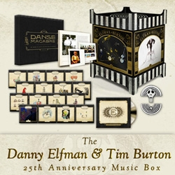 "The Danny Elfman & Tim Burton 25th Anniversary Music Box! This is quite the limited-edition numbered ""Collectors Edition"" of 1000 that collects the 13 original scores they've done together..."