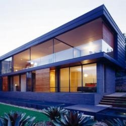 Fox Johnston Architects designed this house in the Mosman neighborhood of Sydney, Australia.