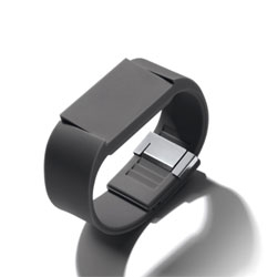 Mutewatch, an uberminimalist watch that can be activated with just a tap and can act as a clock, alarm and timer. It even adjusts the strength of its vibrating notifications to your movements.
