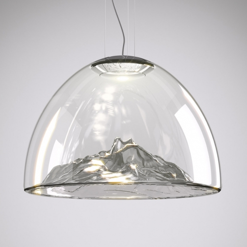 Mountain View lamp by designer Dima Loginoff for italian brand Axo Light. Material: glass Made in Italy. Best Pendant Lamp of the Year: Best of Year Awards, NYC, USA