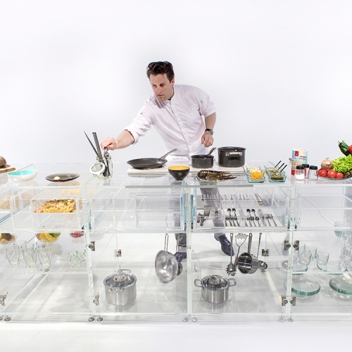 As part of a satellite event for the Venice Biennale, MVRDV have designed a fully transparent kitchen.