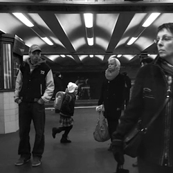 Stainless by Adam Magyar is slow motion video of people waiting on a subway platform as the train arrives. The speed of the camera reveals amazing details about the subjects of the short film.