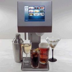 The MyFountain is a completely automated electronic bartender. It can crank out beer, wine, pop or mixed drinks with the push of a button.