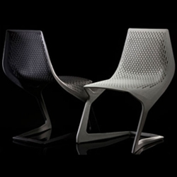 The Myoto Chair designed by Konstantin Grcic with help from chemical engineers at BASF created from a single mold for Plank