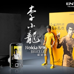 Nokia and Enterbay have worked together to create the first world-class exclusive limited deluxe edition of Bruce Lee Version mobile phone N96.