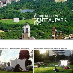 Nothingism Club. The nadismo proposal is to understand that doing nothing is not a waste of time - September 19th in Central Park