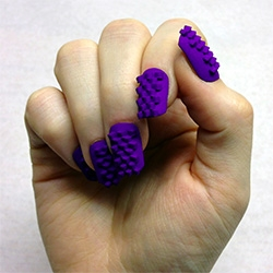 The Laser Girls 3D Print Nail Art! And you can even buy your own at Shapeways.