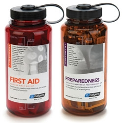 They aren't just for drinking from.... Nalgene now has KITS - for auto, first aid, emergencies, heat stress, kids, and dogs
