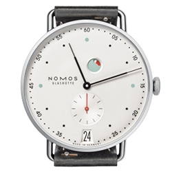 Nomos Metro Datum Gangreserve Watch - designed by Mark Braun.