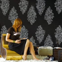 Bring some color and design to your drab living space with Nama Rococo Wallpaper Studio...