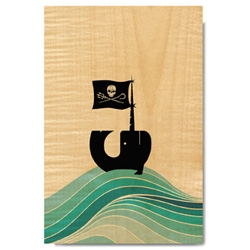 Hub Strategy partnered with Utility Collective to design four ready-to-hang artwork pieces, printed on 12-inch x 18-inch maple veneer wood panels to support Sea Shepherd Conservation Society.