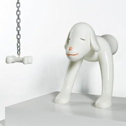 "Yoshitomo Nara's ""I Think Therefore I Am A Dog"" is coming up for auction at Sotheby's Oct. 12.  I think therefore I  love it!"