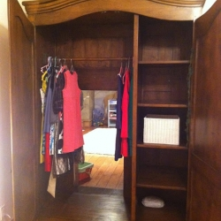 Parents make a real 'Narnia' wardrobe for their 9-year-old daughter that leads into a Narnia themed play area.