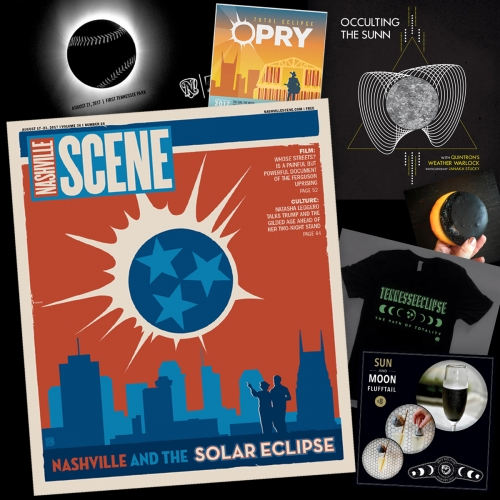 In the path of totality for the Solar Eclipse tomorrow, Nashville's creative scene has been quite inspired - from Eclipse cotton candy cocktails and smoothies to cookies, tshirts, gig posters and more!
