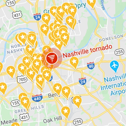TORNADO! Our hearts go out to Nashville (our other home) and those impacted throughout TN. The devastation in East Nashville especially has been extra hard to stomach, but now it's time to clean up, pull together, and rebuild!
