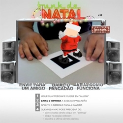 Here's another Augmented Reality example ~ McCann Brazil's xmas card ~ print it out and show it to your webcam to watch santa dance!