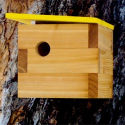 Modern birdhouses by Nathan Danials.