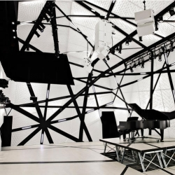 National Sawdust is a new concert hall in Williamsburg Brooklyn designed within an old sawdust factory.