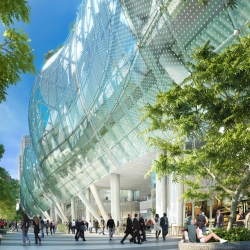 The most photorealistic renderings yet of the $1.2 billion Transbay Transit Center, future terminus of high-speed rail in San Francisco — topped by a 5.4-acre rooftop park. [updated from #21193.]