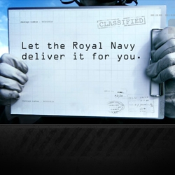 Got an important message to send? Let the Royal Navy deliver it to your friends.