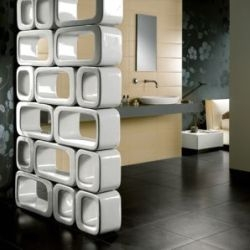gorgeous ceramic room dividers from italian tile company naxos have a mid-century modern aesthetic.