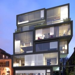 N-Blox is a proposed residential building in Toronto, Canada by Quadrangle Architects.