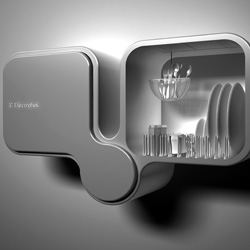 One of the shortlisted Design Lab Entries; The Electrolux Bifoliate Double Dishwasher by Toma Brundzaite.