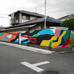 URBANCAMO - Short timelapse video captures the fun that artists DAAS and Nao had while creating this colorful abstract mural in Osaka, Japan.