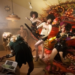 Dark Daze shoots dramatic and gaudy scenes in a way that would make David LaChapelle jealous. Nice set with DeadDeadDead down in Brighton