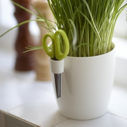 A new series of herb pots with multi-blade scissors, design by Bas van der Veer for Elho.