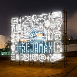 "Rizon Parein created his most intricate neon works to date for Nike's #Sejamax campaign. All CGI, not a ""real"" sign!"