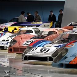 Inside the brand new Porsche museum.