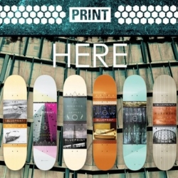 Gorgeous collaboration by Quiet Corners and Blueprint Skateboards.