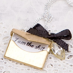 Cute necklace from Locher's ~ for a secret little pick me up when you forget just how awesome you are. Great gift?