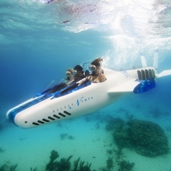 Richard Branson's Necker Nymph is an underwater 'aircraft' that takes exploration under the sea to a whole new level. It can go down to as deep as 30 meters below the surface and can travel at speeds of up to 6 knots underwater.