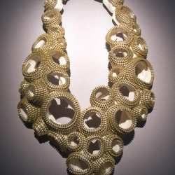 Zipper jewerly by Kate Cusack.