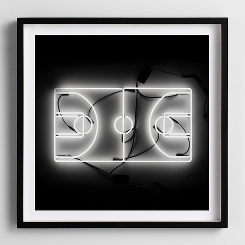 """Neon Basketball Court"" photography print by Andy Blank"