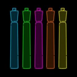 'Neon Highlighters' - design by David Schwen.