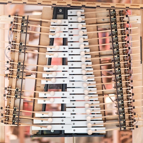 Nescafe Harajuku in Tokyo creates a giant wooden coffee-cup xylophone that makes music while your drink is prepared.