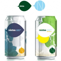 Nifty concepts of graphic design for cans of Nestea ice teas, developed by the agency Letters-Numbers, which brings a more sophisticated form and suggestions of new visual identity.
