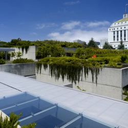 The Oakland Museum of California was introduced as a radical, modern, and green concept. A major renovation is underway to enhance  the extraordinary vision of this 40 year old urban park and cultural complex.