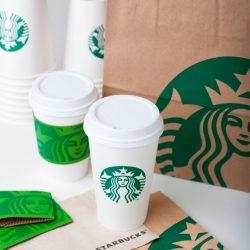 Brand New has some gorgeous images of Starbucks' new logo and identity on their various products.